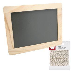Slate 21,5 x 17 cm Wood frame +...