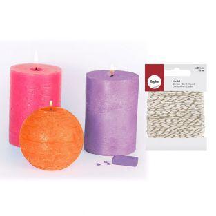 3 feste Farbstoffe für Kerzen Hindu +...