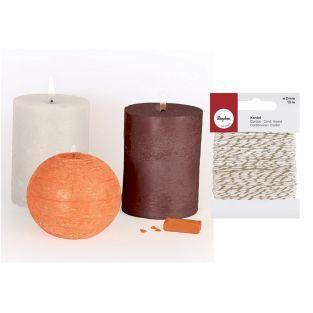 3 colorants solides à bougies Naturel...