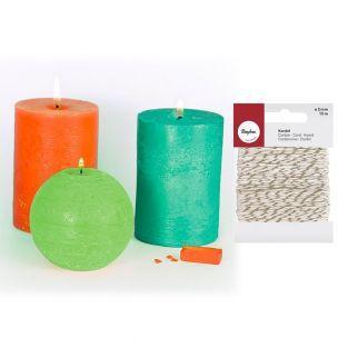 3 colorants solides à bougies...