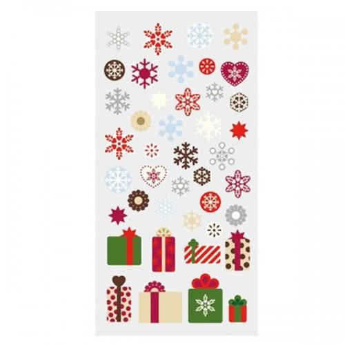 Stickers Snowflakes & Christmas Gifts