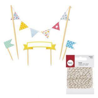 Cake decors banners Happy Birthday +...
