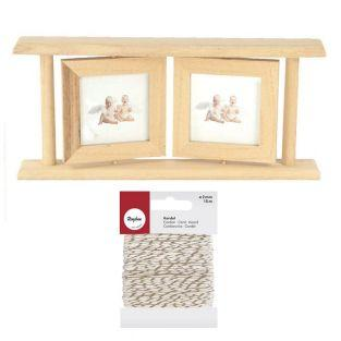 Double wooden picture frame 25 x 12.5...