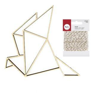 Silhouette bois Cocotte origami +...