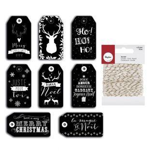 Etiquetas de Navidad perforadas...
