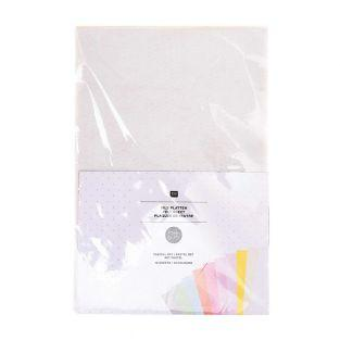 10 sheets of felt 20 x 30 cm - Pastel...