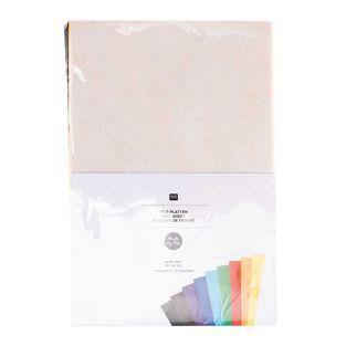 10 sheets of felt 20 x 30 cm - Basic...