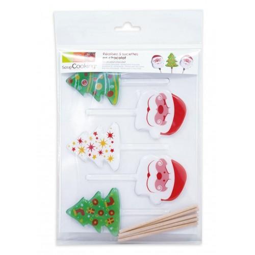 Lollipops molds Christmas Tree & Santa Claus