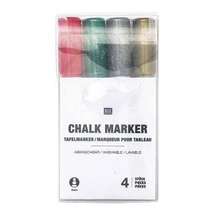 4 chalk markers in Christmas colors -...