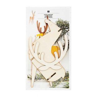 Weihnachtsdekoration aus Holz -...