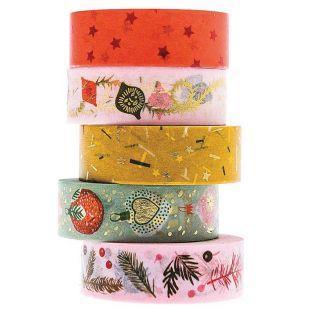 5 masking tape Christmas nostalgic...