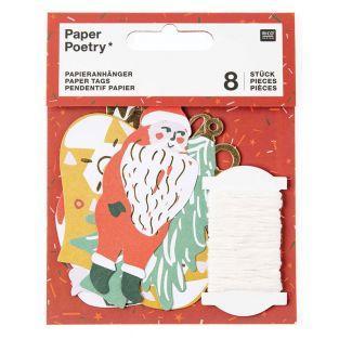 8 étiquettes pour cadeaux de Noël -...