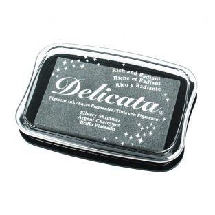 Metal stamp pad - silver