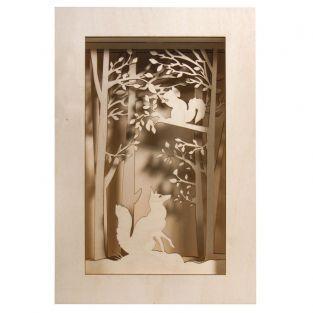 Cuadro de madera - Bosque de Navidad...