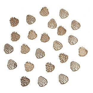 Miniature wooden pine cones ø 2,5cm