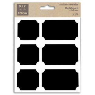 24 slate stickers - Squares & Rectangles