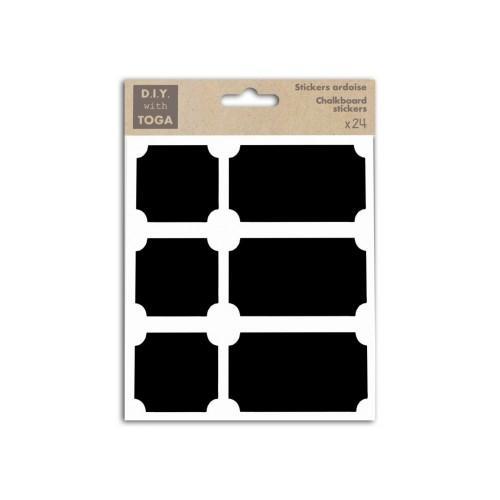 24 stickers ardoise - carrés & rectangles