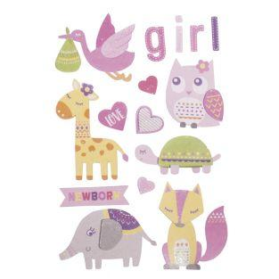 3D stickers girl birth