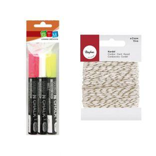 3 chalk markers 6 mm...