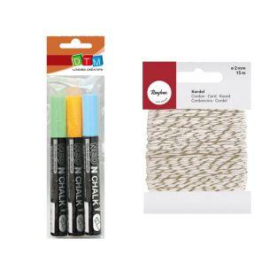 3chalk markers 6 mm Blue-green-orange...