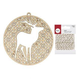 Deer Medallion Misty Winter + golden...