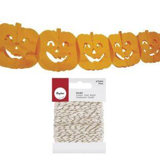 Pumpkin garland in paper for...