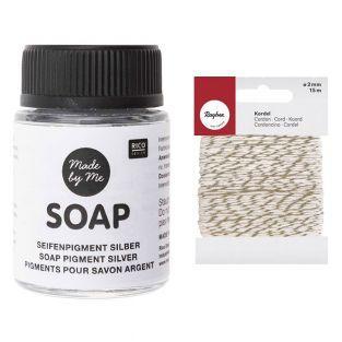 Silver pigment for soap 20 ml +...