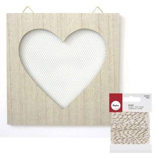 Decorative wooden board with wire...