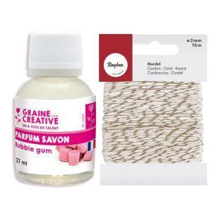 Parfum pour savon 27 ml Chewing-gum +...