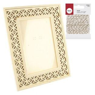 Wooden picture frame 16 x 21 cm...