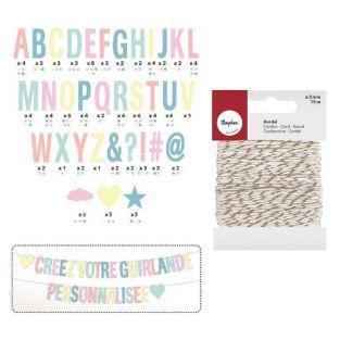 Girlande aus Buchstaben zum Kreieren...