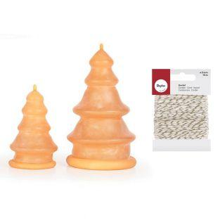2 latex candle molds Fir trees +...