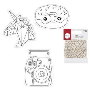 Kit de plástico loco Kawai + cordel...