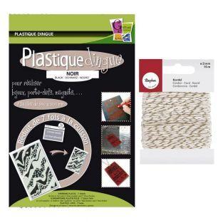 Plastique fou 7 feuilles Noir +...
