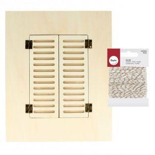 Cadre photo bois Fenêtre 22 x 27 cm +...