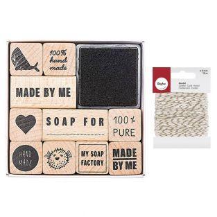 Soap stamps set 100% authentic +...