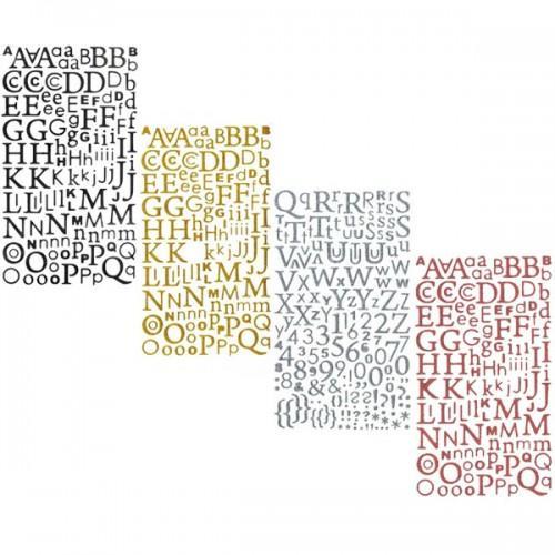 Kit stickers alphabets à paillettes