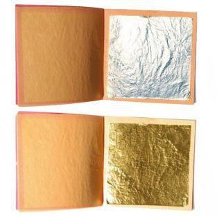 Essbare Blätter - Silber & Gold