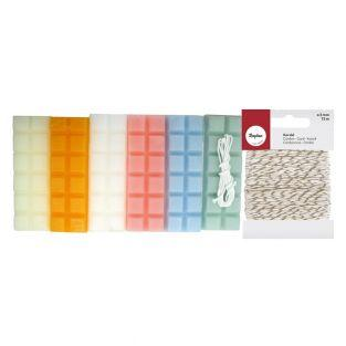 Candle wax 6 pastel colors 240 g +...