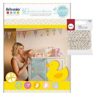 Babyshowers box with Flags + golden &...