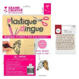 Kit plastique dingue 4 feuilles 2 or...