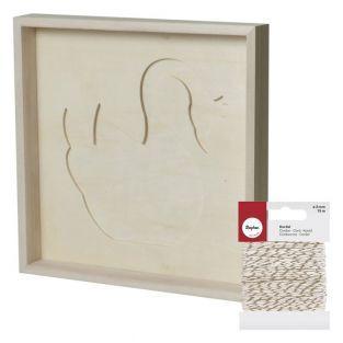 Marco decorativo 30 x 30 cm Cisne +...