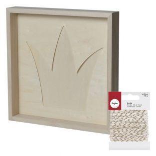Wooden decorative frame 30 x 30 cm...