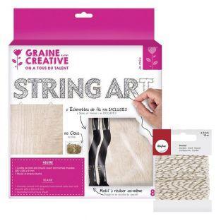 Quadro di legno String Art Fai da te...