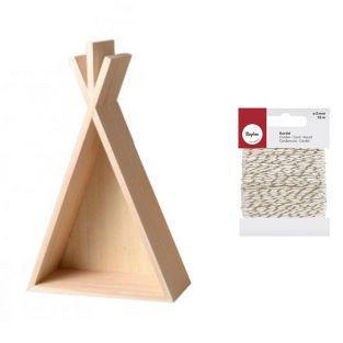 Petite étagère tipi en bois 26 cm +...