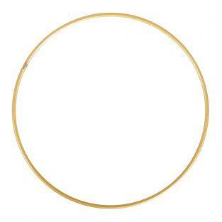 Gold plated metal ring ø 25 cm