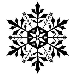 Holzstempel - Schneeflocke