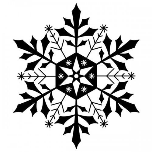 Sello de madera - Copo de hielo