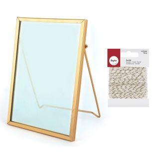 Vintage glass frame rectangle 13 x...