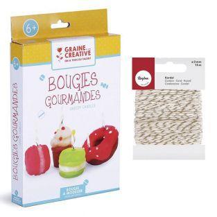 Coffret enfants Bougies gourmandes à...